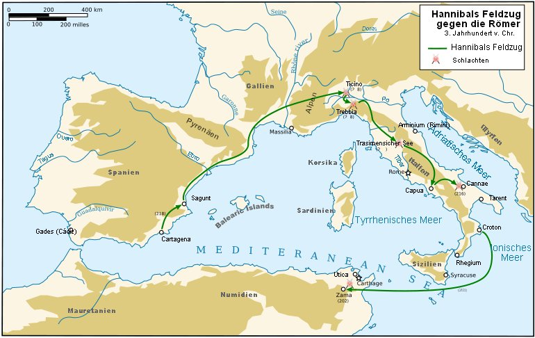 Hannibals Weg über Die Alpen